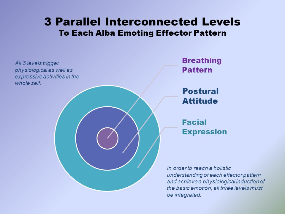 3 Parallel Interconnected Levels To Each Alba Emoting Effector Pattern