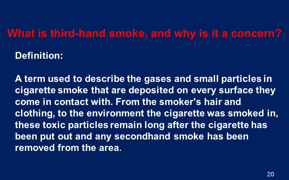 What is third-hand smoke, and why is it a concern