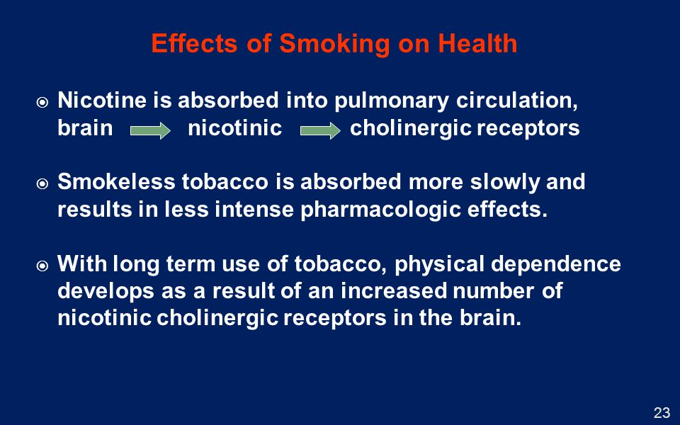 effects of tobacco use on the Recalling the facts chapter 21 examine the harmful effects of tobacco use on the digestive and excretory system there are risks of cancer in the mouth.