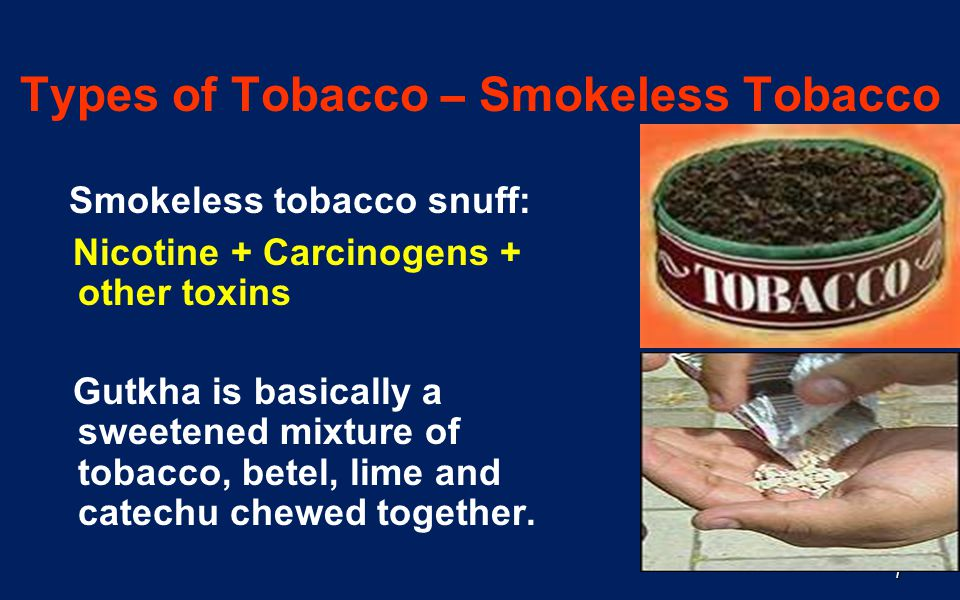 Types of Tobacco – Smokeless Tobacco