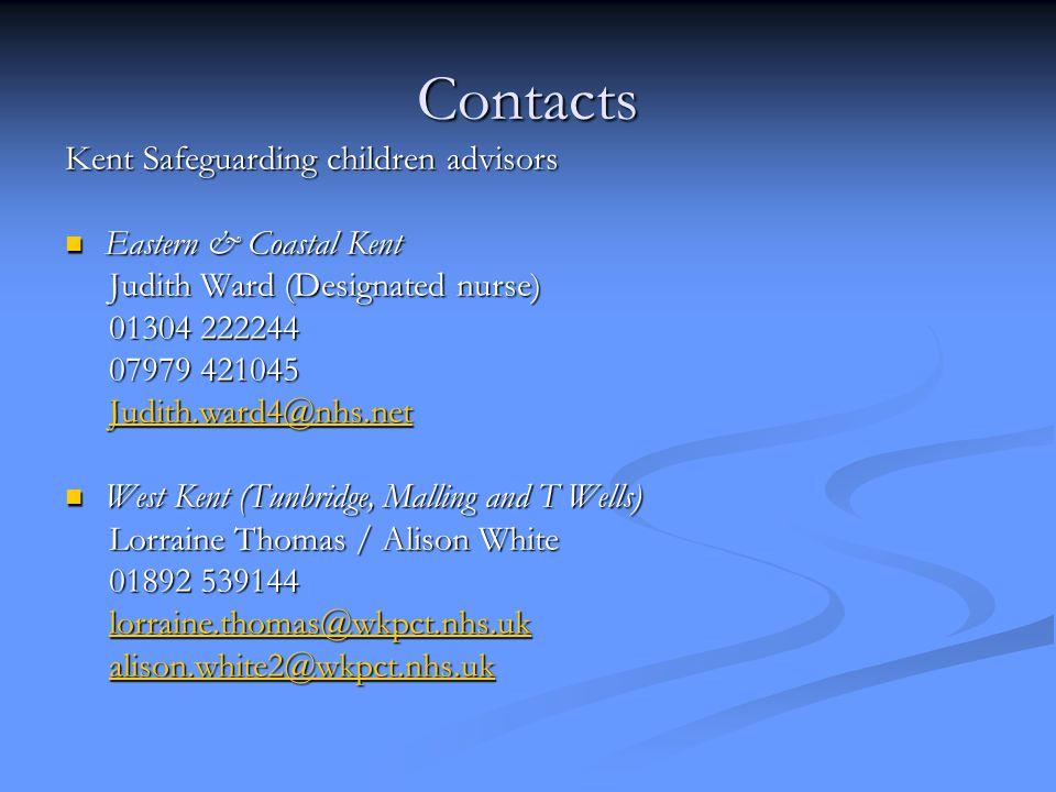 Contacts Kent Safeguarding children advisors Eastern & Coastal Kent