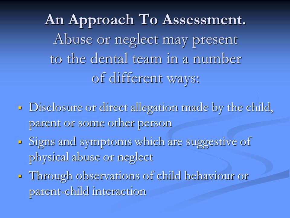 An Approach To Assessment