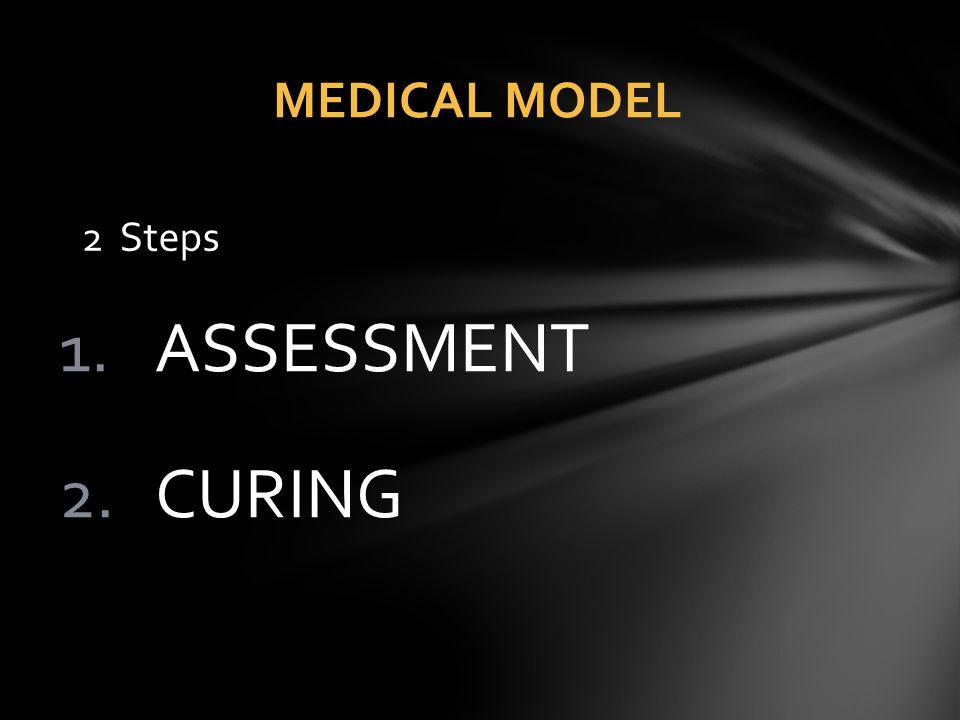 MEDICAL MODEL 2 Steps ASSESSMENT CURING