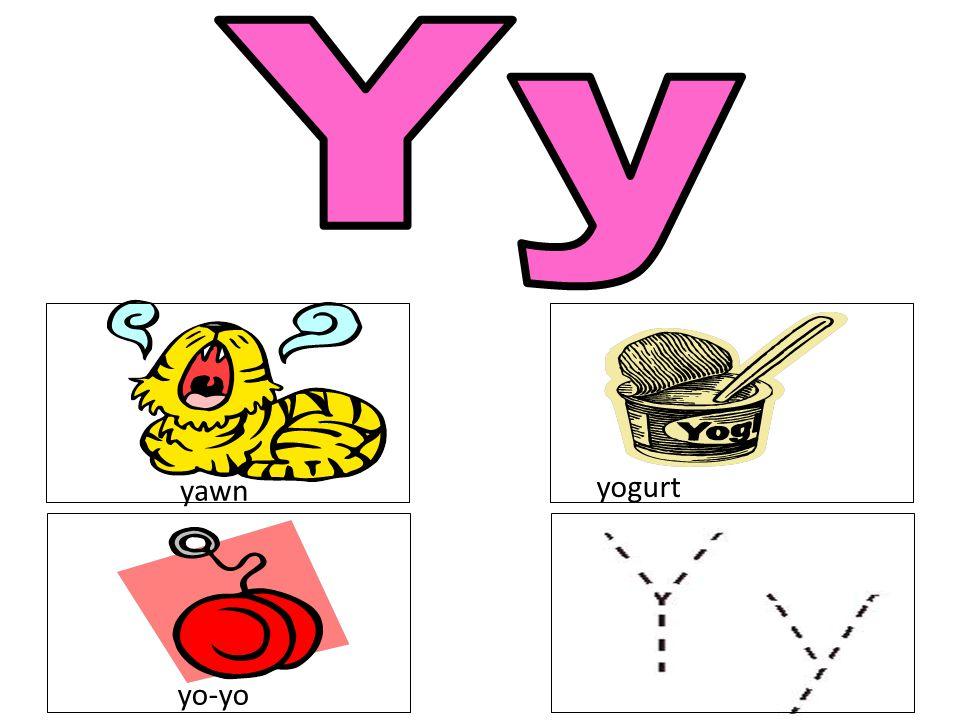 Yy yawn yogurt yo-yo