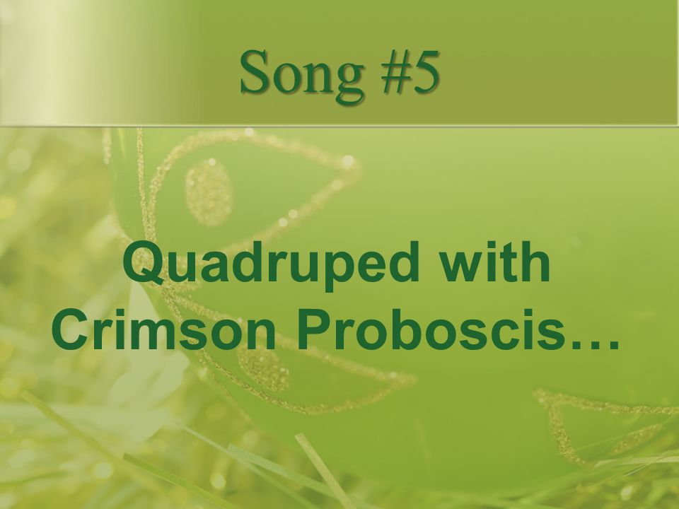 Quadruped with Crimson Proboscis…