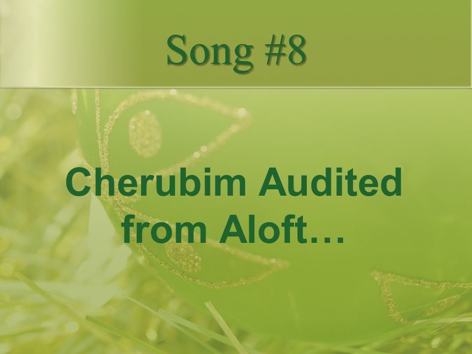 Cherubim Audited from Aloft…