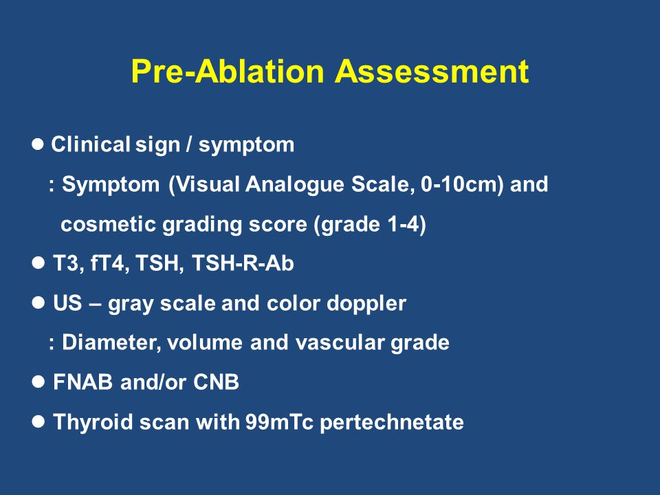 Pre-Ablation Assessment