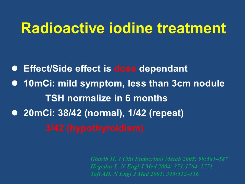 Radioactive iodine treatment