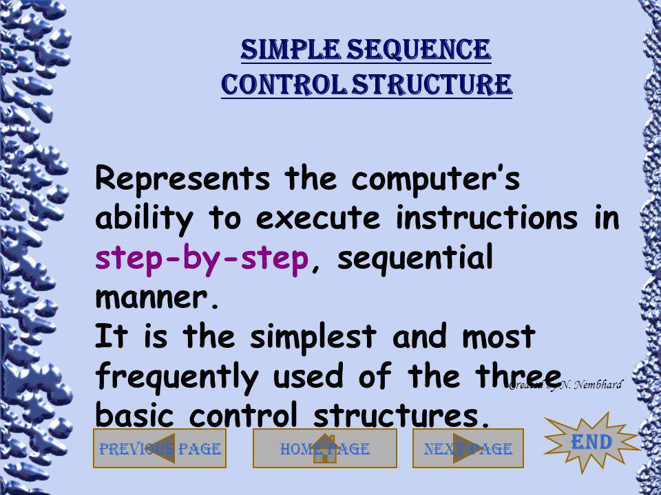 Simple Sequence Control Structure