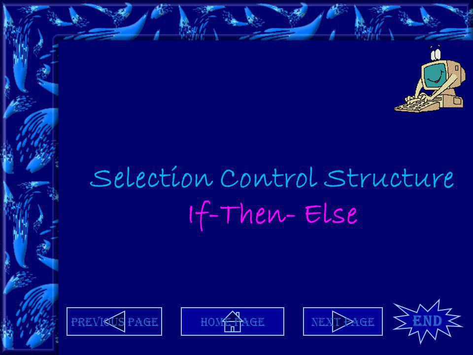 Selection Control Structure