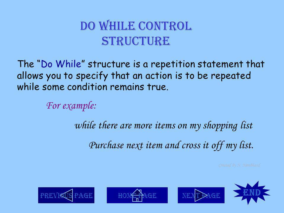 Do While Control Structure