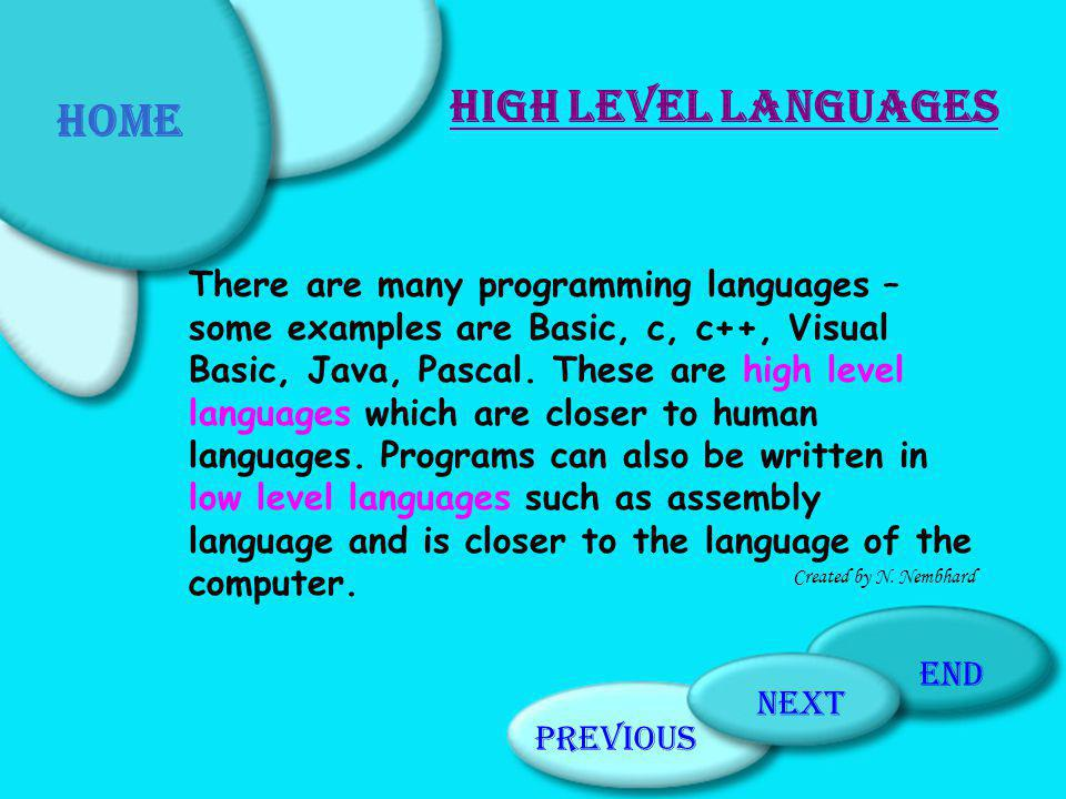 Home High Level Languages