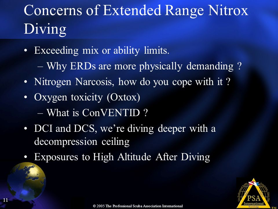 Concerns of Extended Range Nitrox Diving