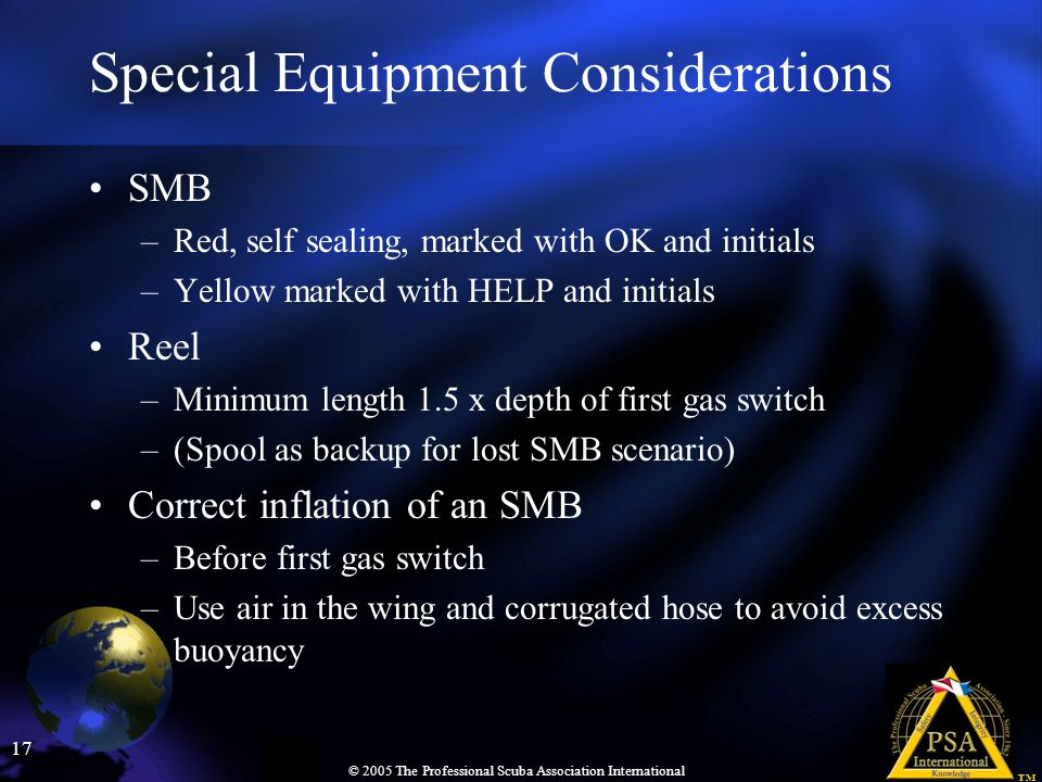 Special Equipment Considerations
