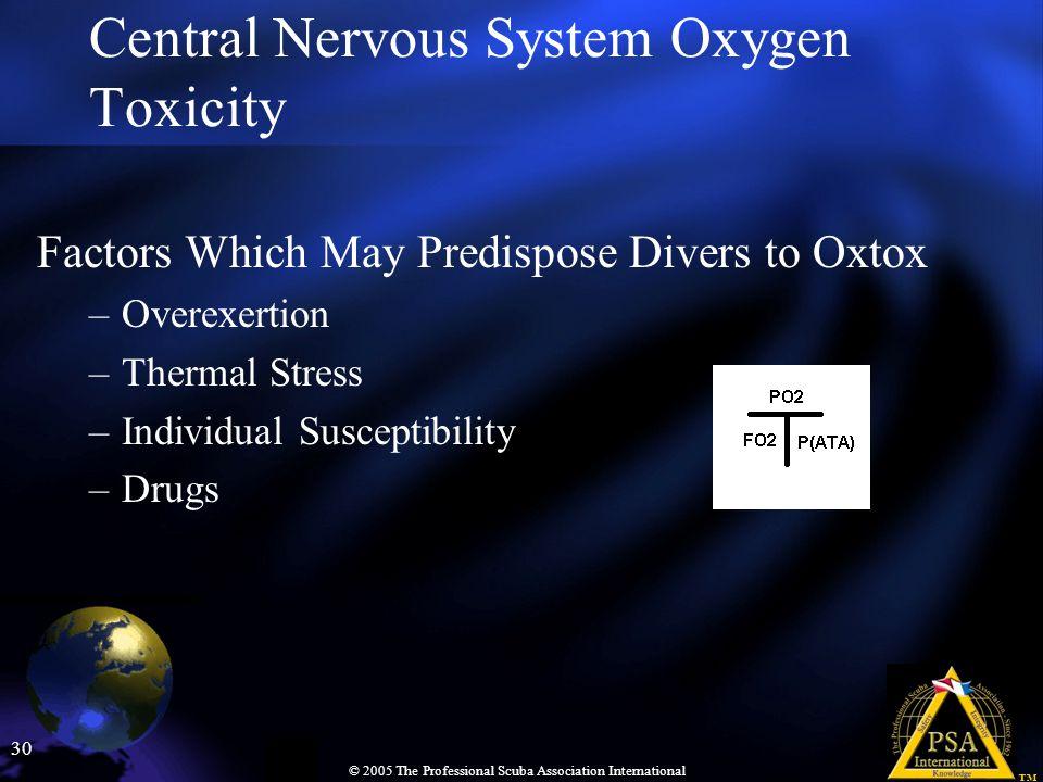 Central Nervous System Oxygen Toxicity