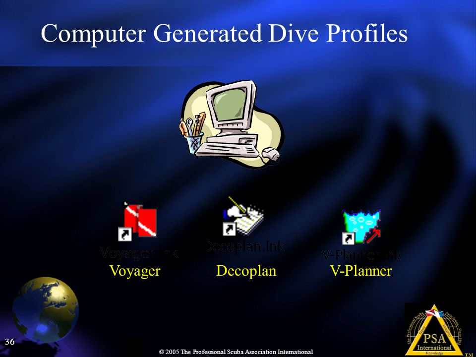 Computer Generated Dive Profiles