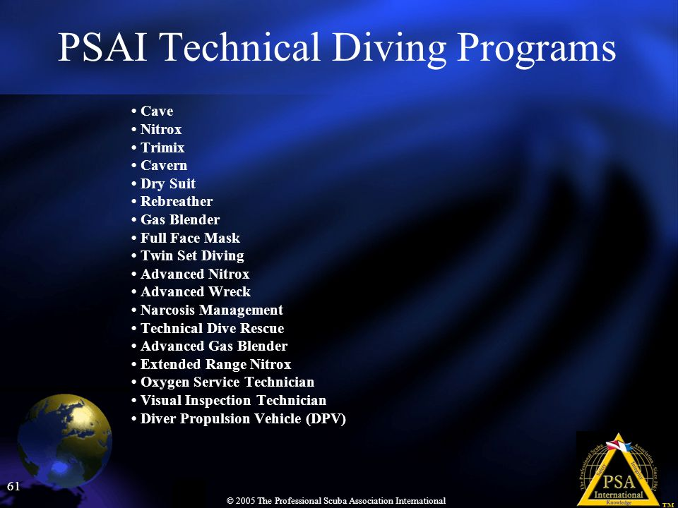 PSAI Technical Diving Programs