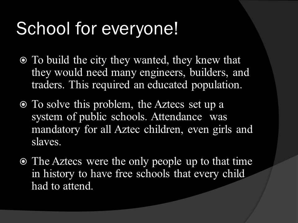 School for everyone!