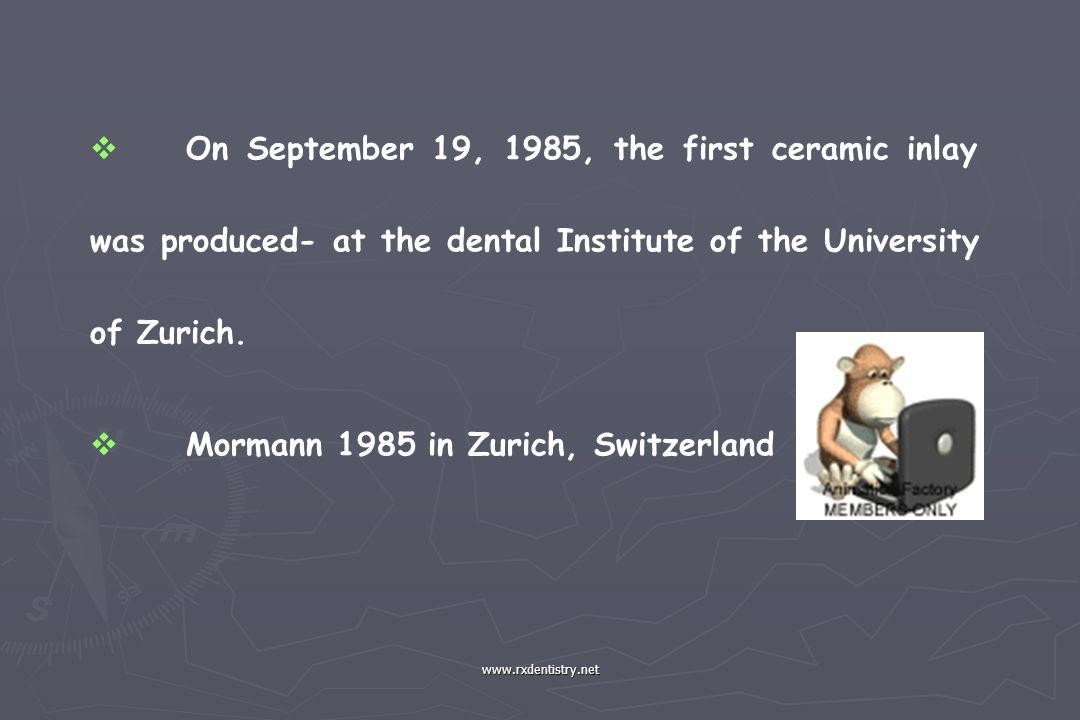 Mormann 1985 in Zurich, Switzerland