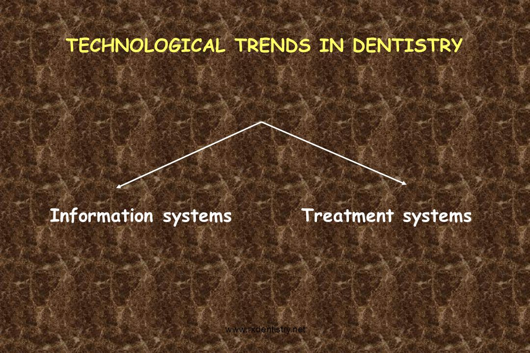 TECHNOLOGICAL TRENDS IN DENTISTRY