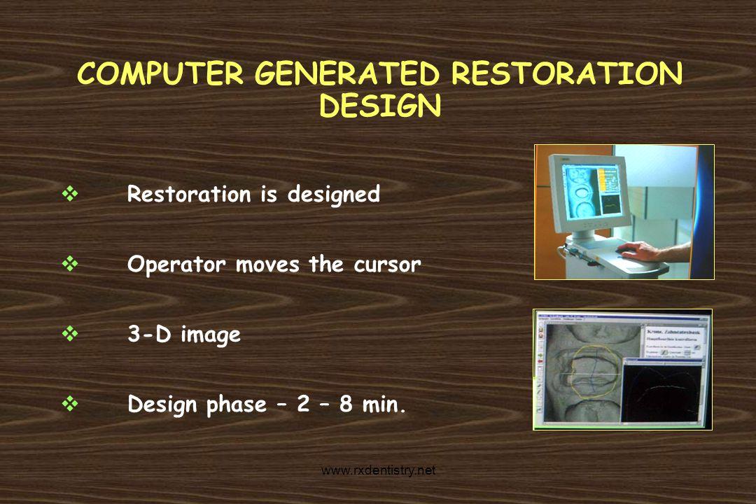 COMPUTER GENERATED RESTORATION DESIGN