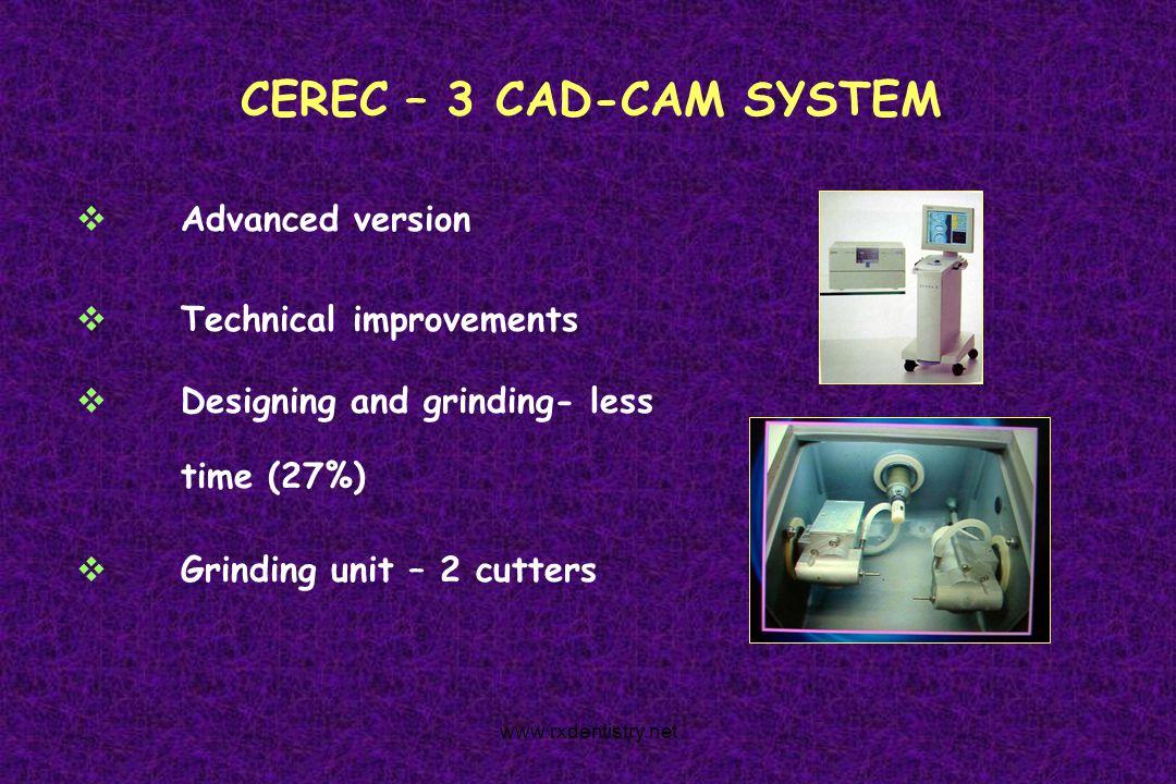 CEREC – 3 CAD-CAM SYSTEM Advanced version Technical improvements