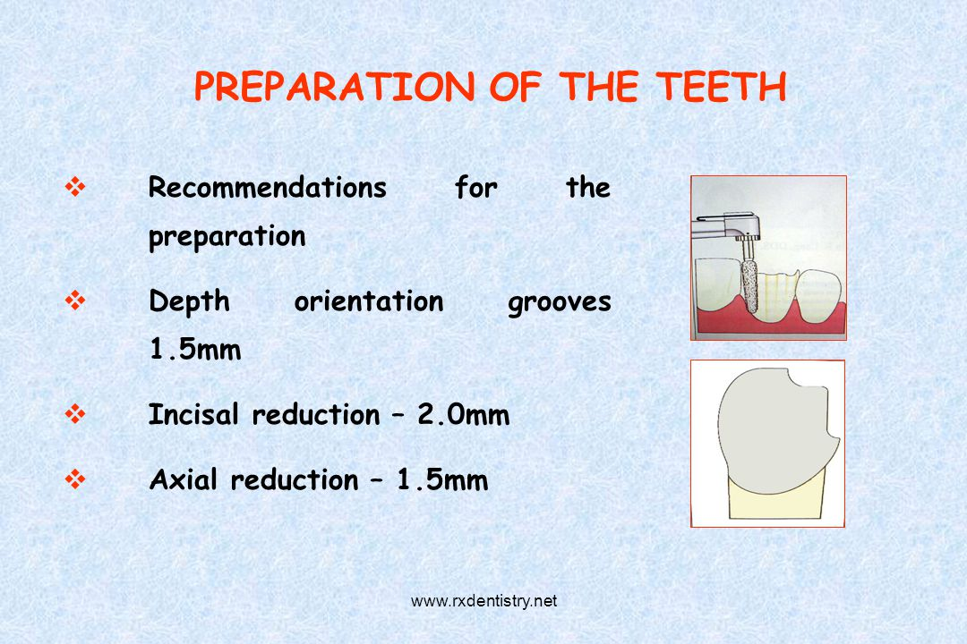 PREPARATION OF THE TEETH