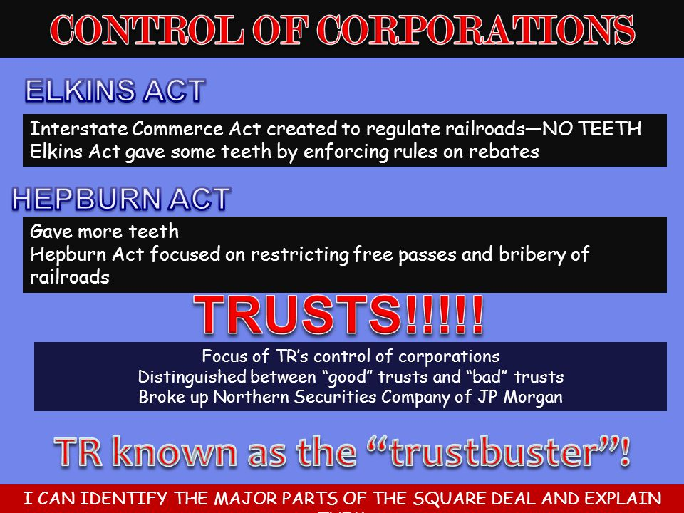 CONTROL OF CORPORATIONS TR known as the trustbuster !