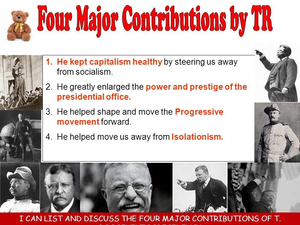 Four Major Contributions by TR