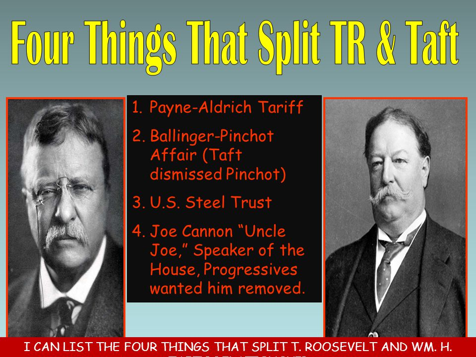 Four Things That Split TR & Taft