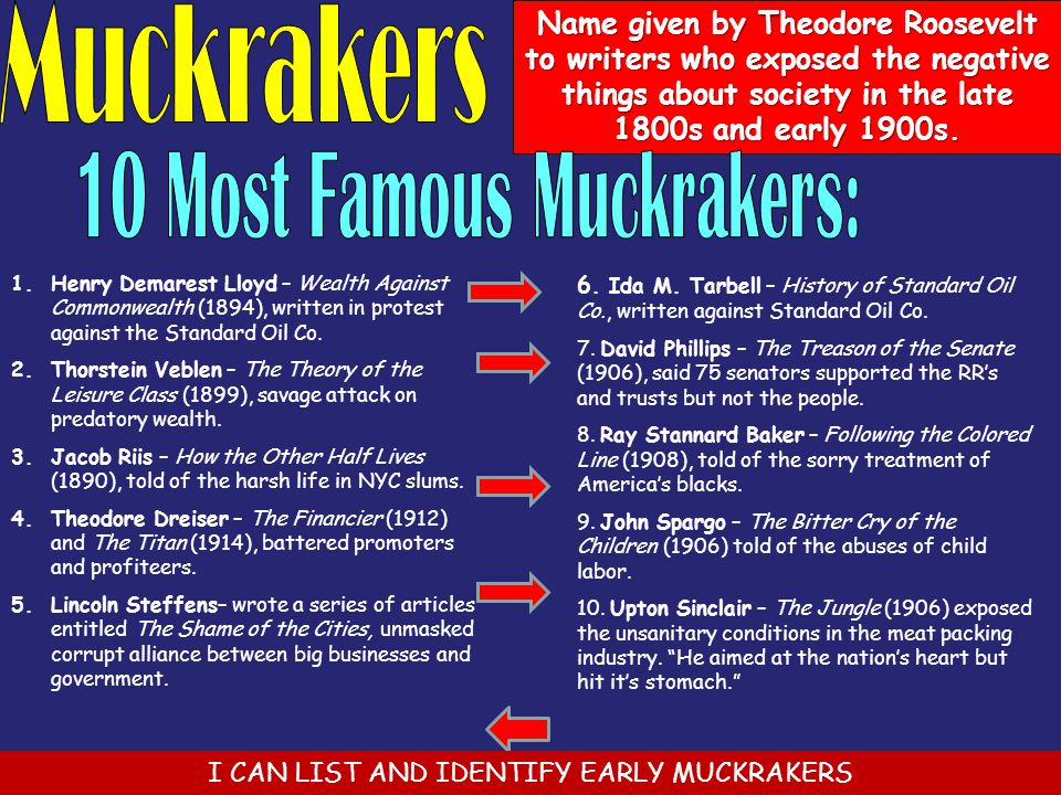 10 Most Famous Muckrakers: