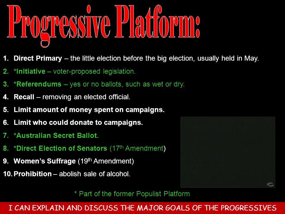 Progressive Platform: