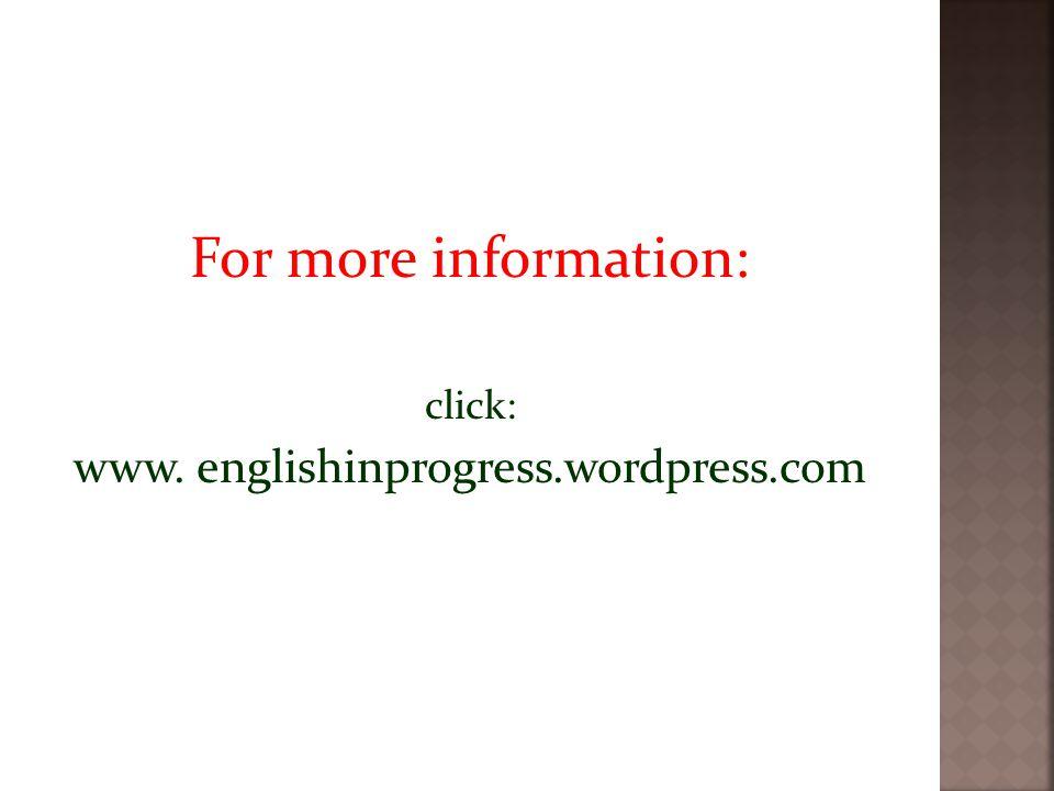 www. englishinprogress.wordpress.com