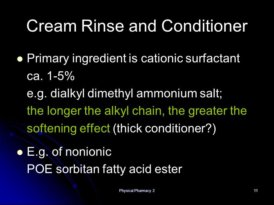 Cream Rinse and Conditioner