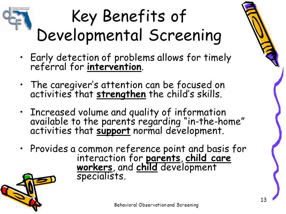 Behavioral Observation and Screening in Child Care - ppt ...