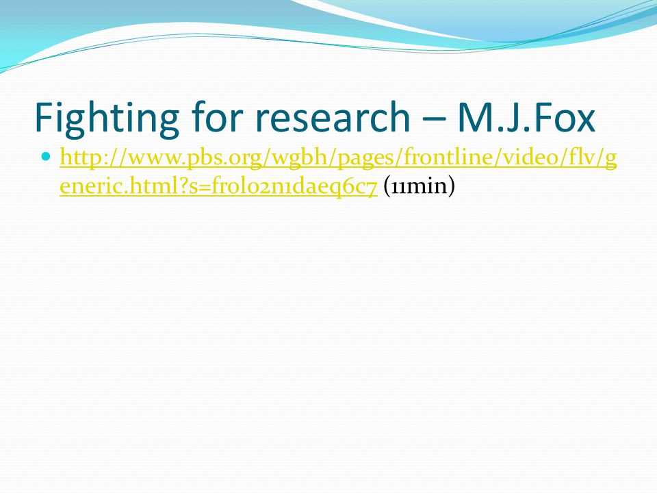 Fighting for research – M.J.Fox