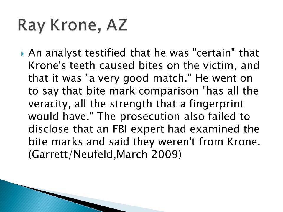 Ray Krone, AZ