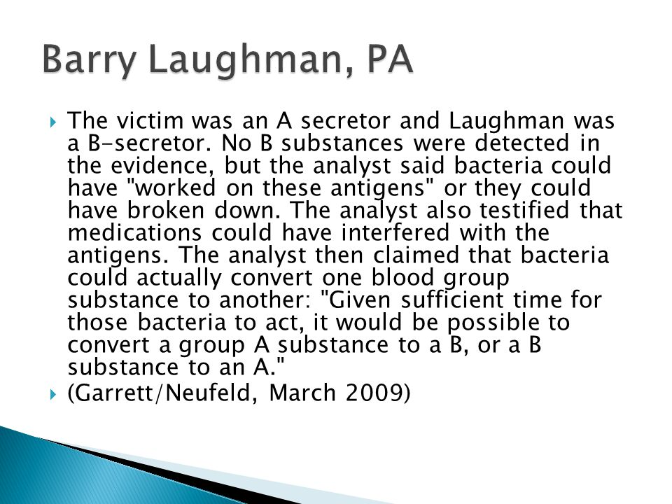 Barry Laughman, PA