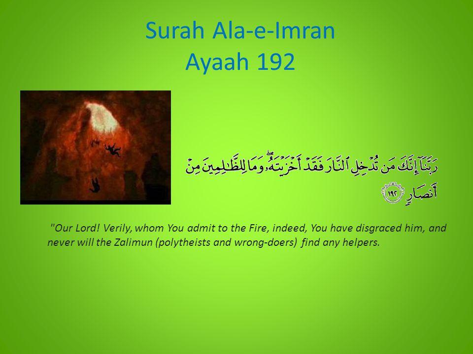 Surah Ala-e-Imran Ayaah 192