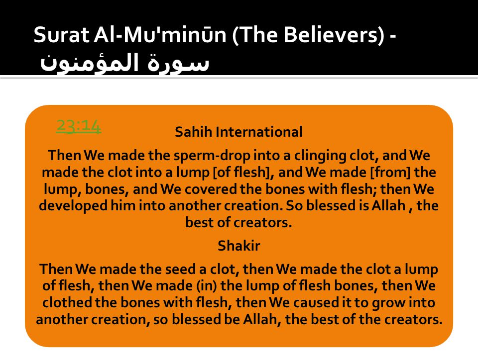 Surat Al-Mu minūn (The Believers) - سورة المؤمنون