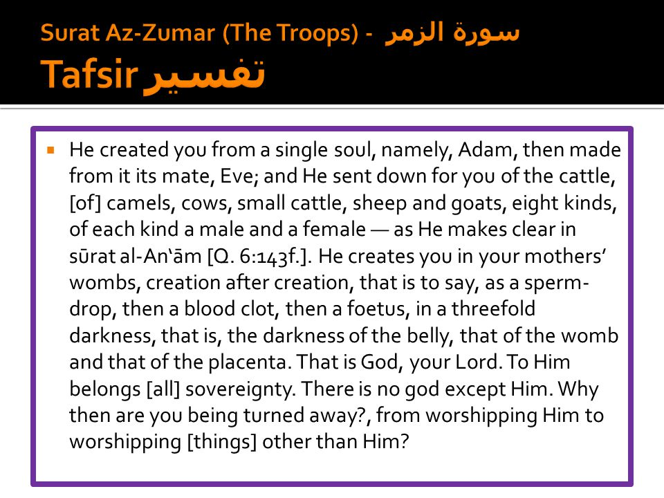 Surat Az-Zumar (The Troops) - سورة الزمر Tafsir تفسير