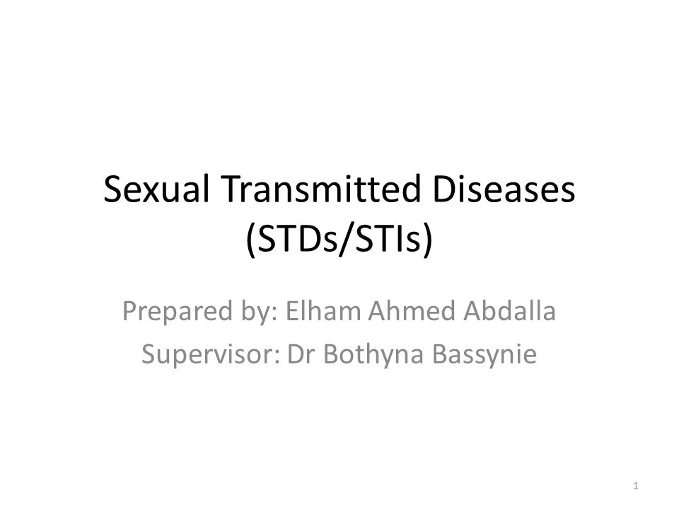 Sexual Transmitted Diseases (STDs/STIs)