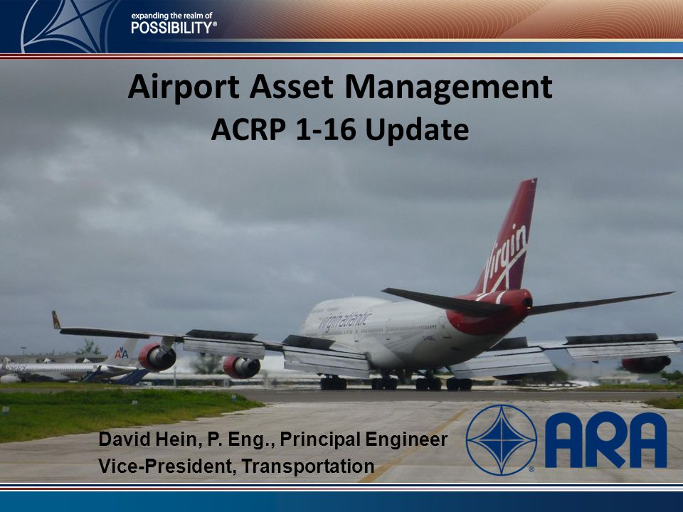 Airport Asset Management ACRP 1-16 Update