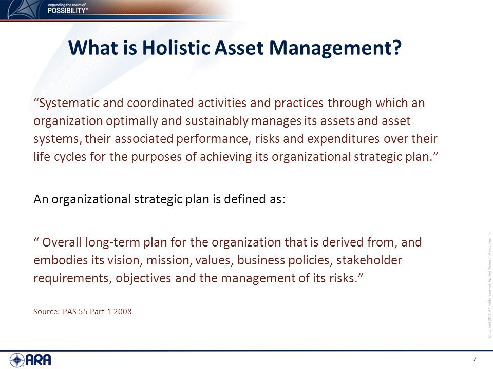 What is Holistic Asset Management
