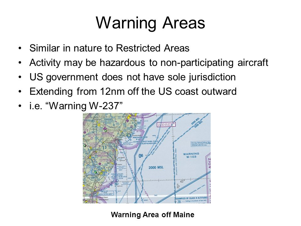 Warning Areas Similar in nature to Restricted Areas