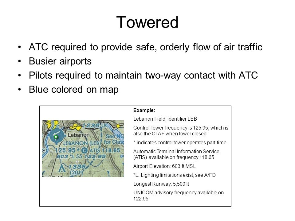 Towered ATC required to provide safe, orderly flow of air traffic