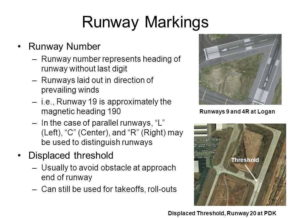 Runway Markings Runway Number Displaced threshold