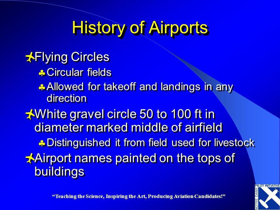 History of Airports Flying Circles
