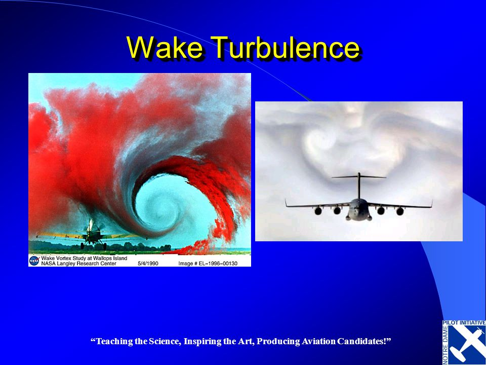 Wake Turbulence Teaching the Science, Inspiring the Art, Producing Aviation Candidates!