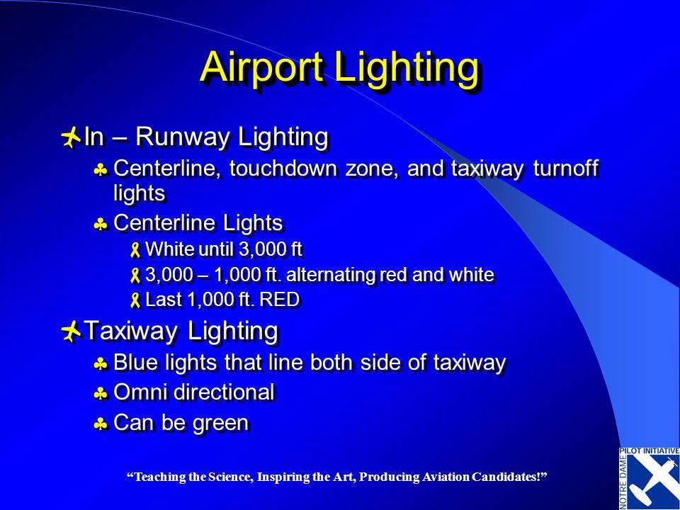 Airport Lighting In – Runway Lighting Taxiway Lighting
